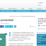Privacidad: riesgos y costos